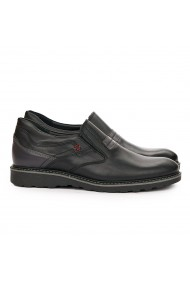 Pantofi barbati casual din piele naturala neagra 7092