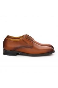 Pantofi barbati casual din piele naturala maro 7097