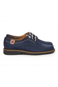 Pantofi barbati casual din piele naturala bleumarin 7099