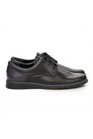 Pantofi sport barbati casual din piele naturala neagra 7101