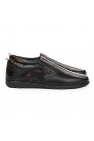 Pantofi sport barbati casual din piele naturala neagra 7104