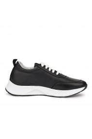Pantofi sport casual sport din piele naturala neagra 7073