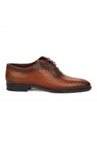 Pantofi eleganti din piele naturala maro 7067
