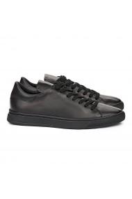 Pantofi Casual Piele Naturala neagra 7117