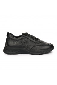 Pantofi Casual Piele Naturala neagra 7120