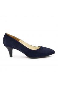 Pantofi dama din piele naturala bleumarin 9250