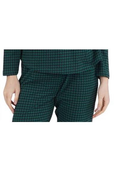 Pijama dama din bumbac model Chic cu maneca lunga si pantalon lung