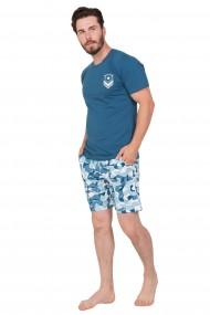 Pijama barbateasca tricou cu maneca scurta si pantalon scurt ''Army''