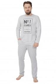 Pijama barbateasca model hashtag bluza cu maneca lunga si pantalon lung