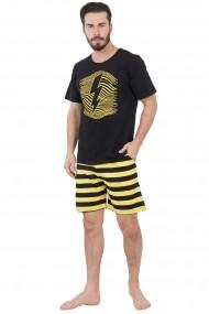 Pijama barbateasca model Fulger tricou cu maneca scurta si pantalon scurt