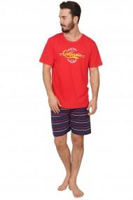 Pijama barbateasca model Basketball tricou cu maneca scurta si pantalon scurt