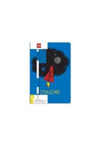 Agenda LEGO albastra