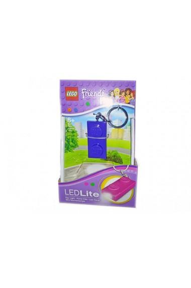 Breloc cu lanterna LEGO Friends placa indigo