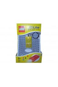 Breloc cu lanterna Lego placa aurie