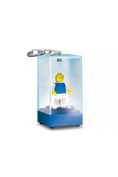 Breloc lanterna cutie albastra Lego