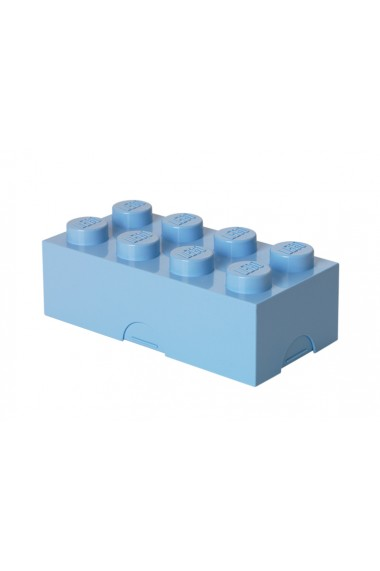 Cutie sandwich sau depozitare Lego 2x4 albastru deschis