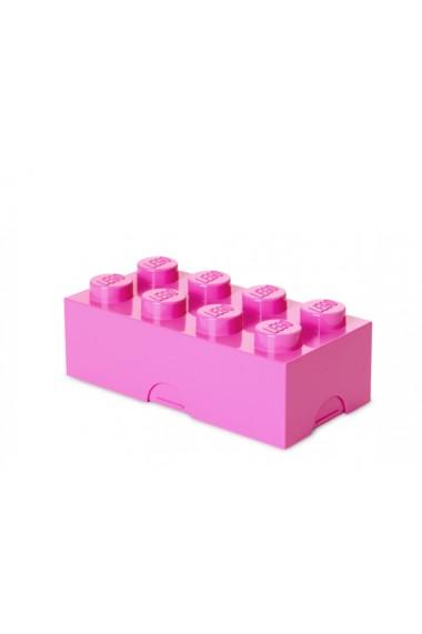 Cutie sandwich sau depozitare Lego 2x4 roz