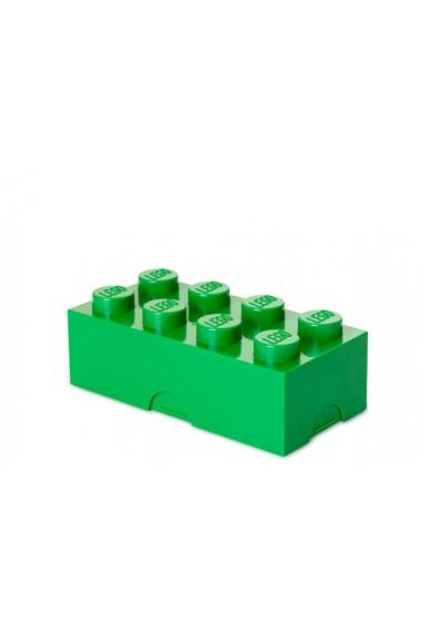 Cutie sandwich sau depozitare Lego 2x4 verde inchis