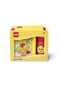 Set pentru pranz Lego Iconic rosu galben