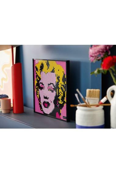 Andy Warhol`s Marilyn Monroe Lego Art