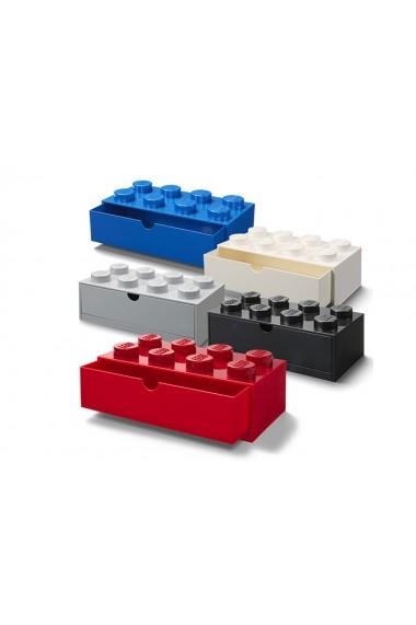 Sertar de birou LEGO 2x4 alb