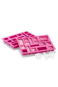Tava pentru cuburi de gheata LEGO roz