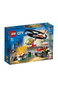 Interventie cu elicopterul de pompieri Lego City
