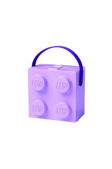 Cutie pentru sandwich 2x2 lavanda Lego