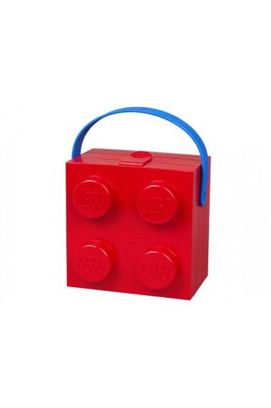Cutie pentru sandwich Lego 2x2 rosu