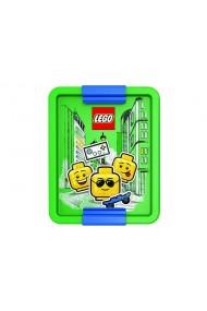 Cutie pentru sandwich LEGO Iconic albastru verde