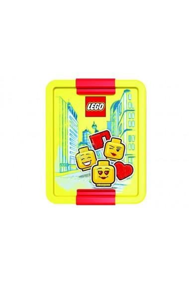Cutie pentru sandwich LEGO Iconic rosu galben