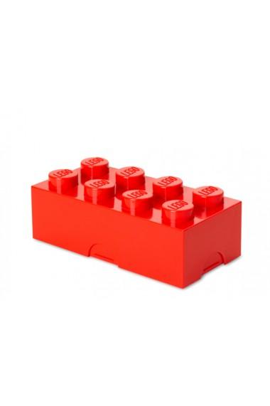 Cutie pentru sandwich sau depozitate Lego 2x4 rosu