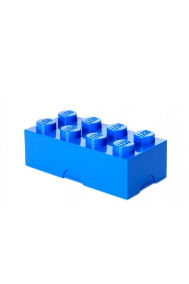 Cutie sandwich sau depozitare Lego 2x4 albastru