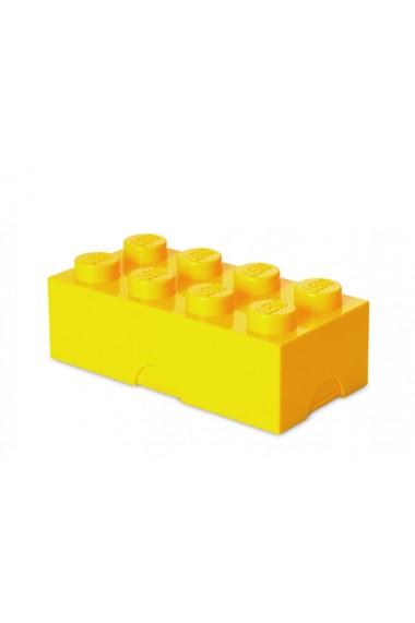 Cutie sandwich sau depozitare Lego 2x4 galben