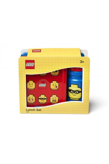 Set pentru pranz Lego Classic albastru rosu