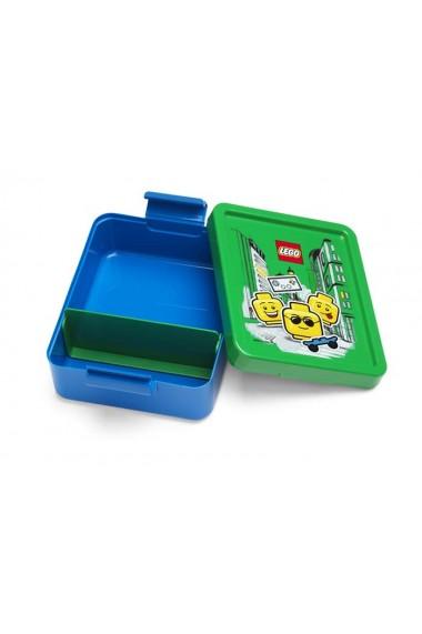 Set pentru pranz Lego Iconic albastru si verde