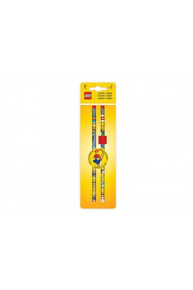 Set 2 creioane Lego grafit cu topper