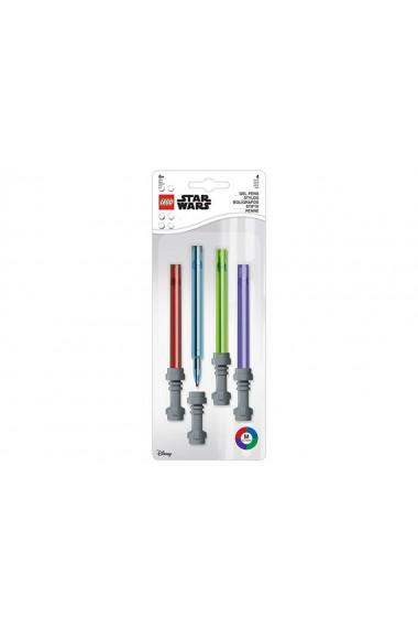Set 4 pixuri colorate cu gel LEGO Star Wars Lightsaber