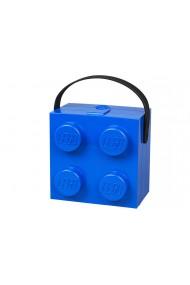 Cutie pentru sandwich Lego 2x2 albastru
