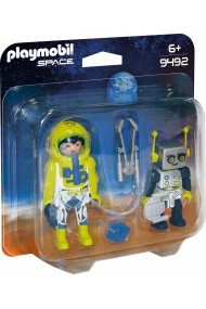 Set 2 figurine Astronaut si Robot Playmobil Space