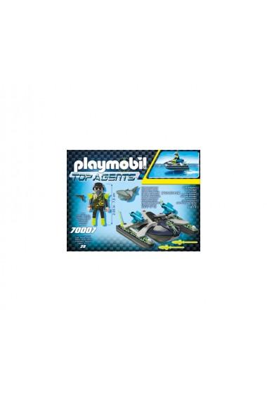 Skijetul echipei S.H.A.R.K. Playmobil Top Agents