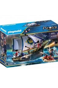 Soldat britanic si caravela Playmobil Pirates