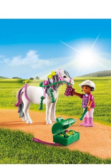 Ingrijitor si Ponei cu inimioare Playmobil Country