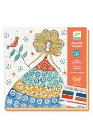 Atelier creativ pictura rochii cu flori Djeco