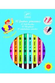 Carioci cu pensula culori pop Djeco