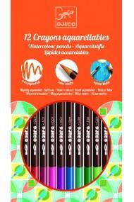 Creioane acuarela de colorat Djeco