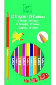 Creioane duble de colorat Djeco