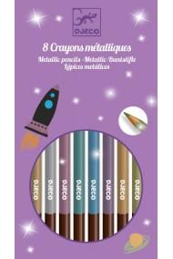 Creioane metalice de colorat Djeco