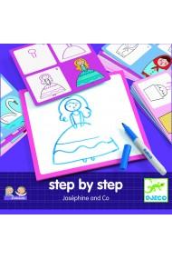 Deseneaza pas cu pas fete Djeco