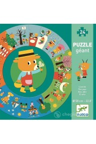 Puzzle circular anotimpurile Djeco